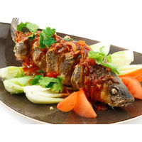 Seabass baked with sauce of your choice